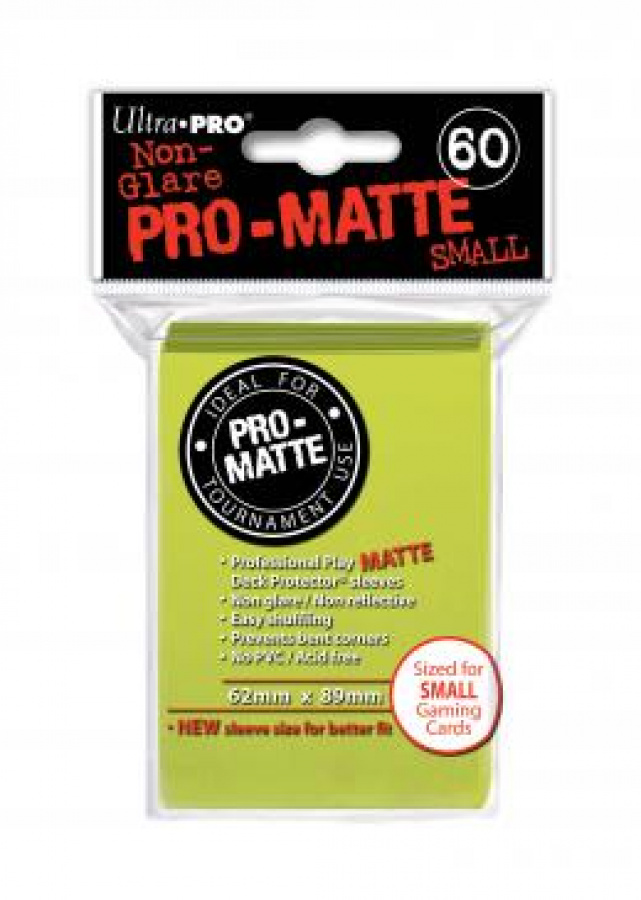 ULTRA-PRO Deck Protector Pro-Matte SMALL Bright Yellow (limonkowe)
