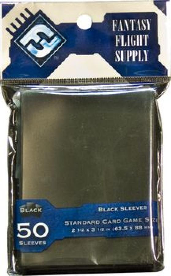 FFG Standard Card Game Sleeves - Black (Czarne) 50