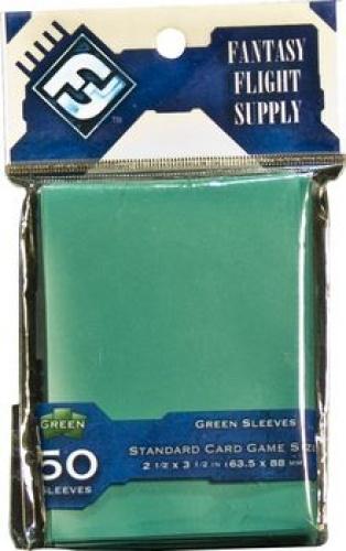 FFG Standard Card Game Sleeves - Green (Zielone) 50