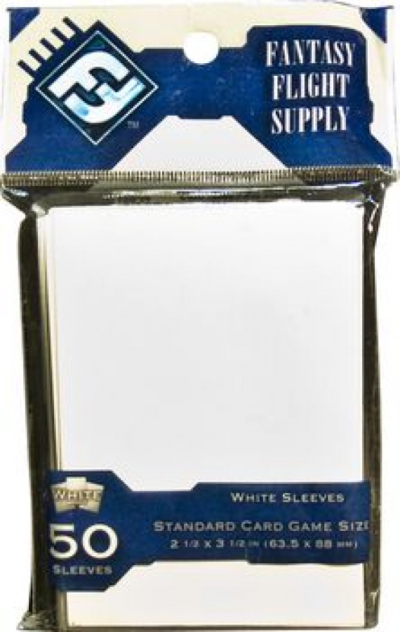 FFG Standard Card Game Sleeves - White (Białe) 50