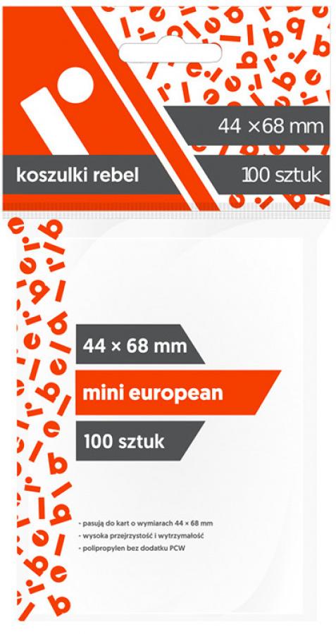 "Koszulki na karty Rebel (44x68 mm) ""Mini European"", 100 sztuk"
