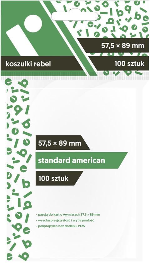 "Koszulki na karty Rebel (57,5x89 mm) ""Standard American"", 100 sztuk"