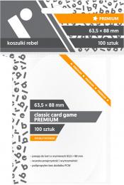 "Koszulki na karty Rebel (63,5x88 mm) ""Classic Card Game Premium"", 100 sztuk"