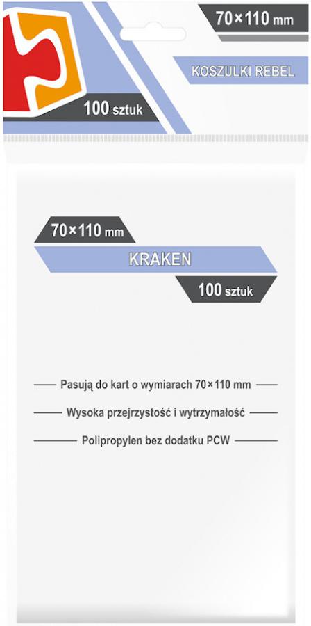 "Koszulki na karty Rebel (70x110 mm) ""Kraken"", 100 sztuk"