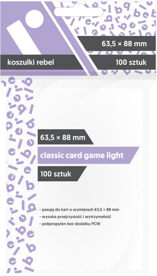 "Koszulki na karty Rebel (63,5x88 mm) ""Classic Card Game Light"", 100 sztuk"