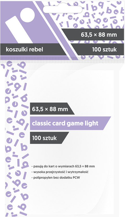 "Koszulki na karty Rebel (63,5x88 mm) ""Classic Card Game Light"", 100 sztuk"