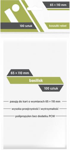 "Koszulki na karty Rebel (65x110 mm) ""Basilisk"", 100 sztuk"