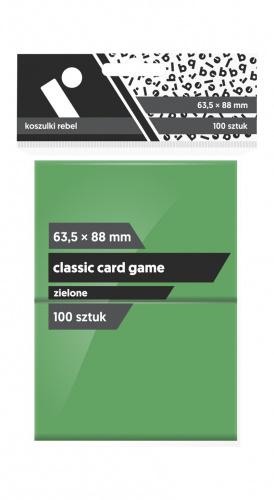 "Koszulki na karty Rebel (63,5x88 mm) ""Classic Card Game"", 100 sztuk, Zielone"