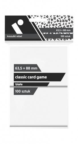 """Koszulki na karty Rebel (63,5x88 mm) """"Classic Card Game"""", 100 sztuk, Białe"""
