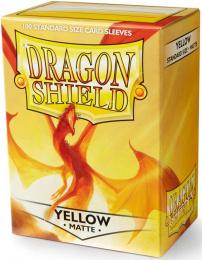 """Dragon Shield: Koszulki na karty (63x88 mm) """"Standard Size"""" Matte, 100 sztuk, Żółte"""