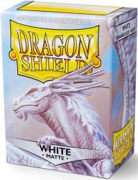 """Dragon Shield: Koszulki na karty (63x88 mm) """"Standard Size"""" Matte, 100 sztuk, Białe"""