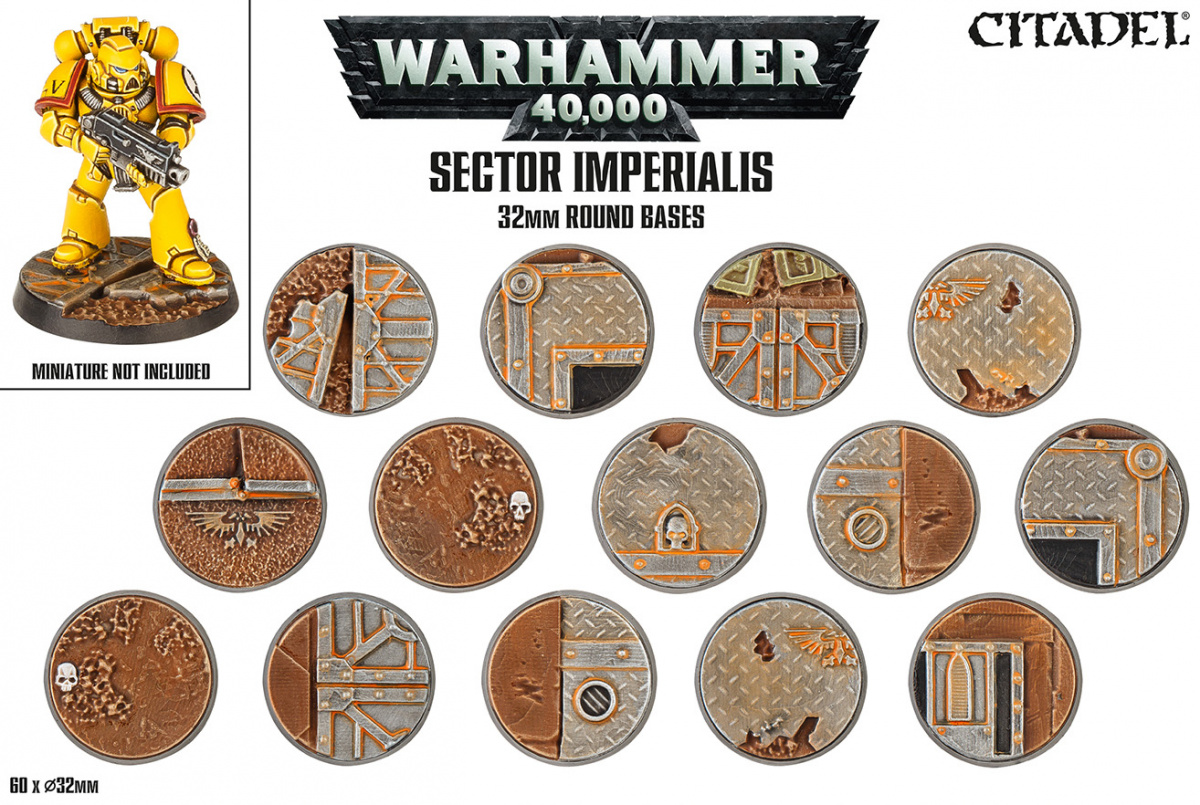Citadel: Sector Imperialis 32mm Round Bases