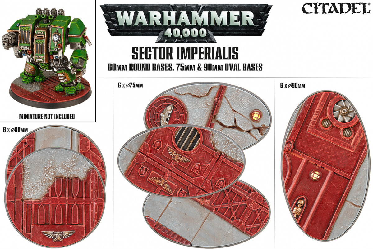 Citadel: Sector Imperialis 60mm Round Bases, 75mm & 90mm Oval Bases