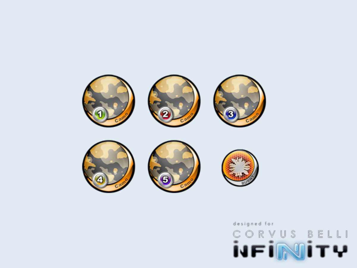 """Infinity Tokens Camo """"Azar"""" (6)"""