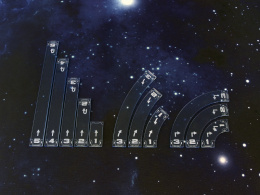 Space Fighter Move Templates Blue
