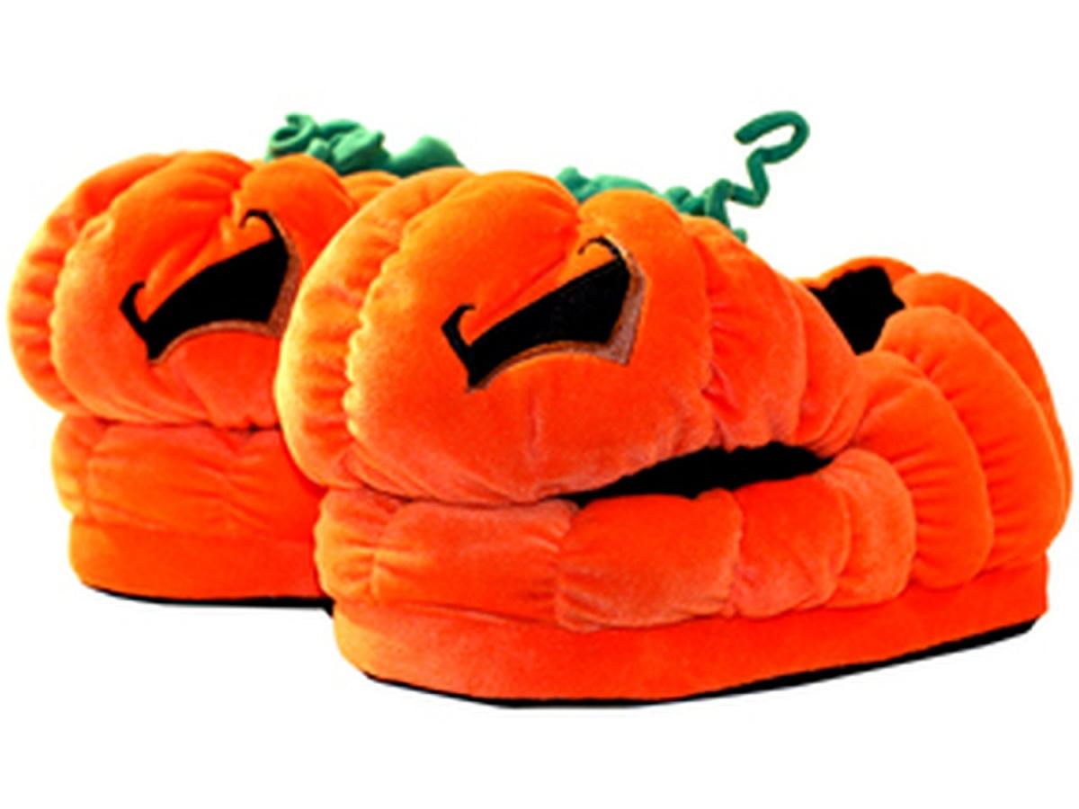 Kapcie pluszowe: Halloween - Jack O'Lantern
