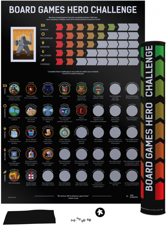 TopScratch: Board Games Hero Challenge - Zdrapka