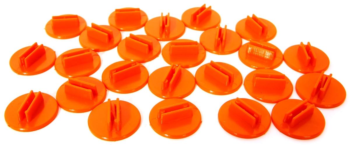 Podstawka na karty - okrągła (kolor pomarańczowy)