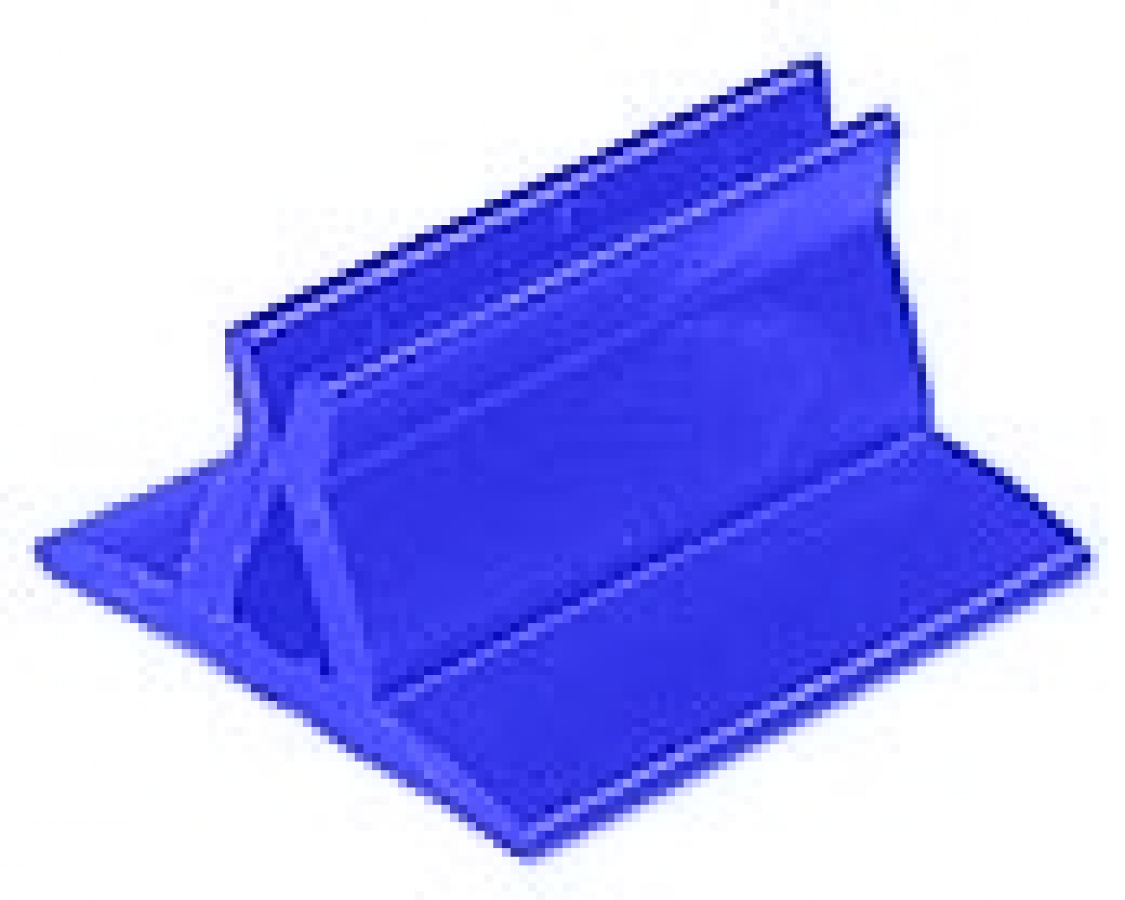 Podstawka na karty - prostokątna (kolor niebieski)