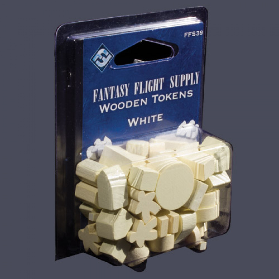 White Assorted Wood Tokens