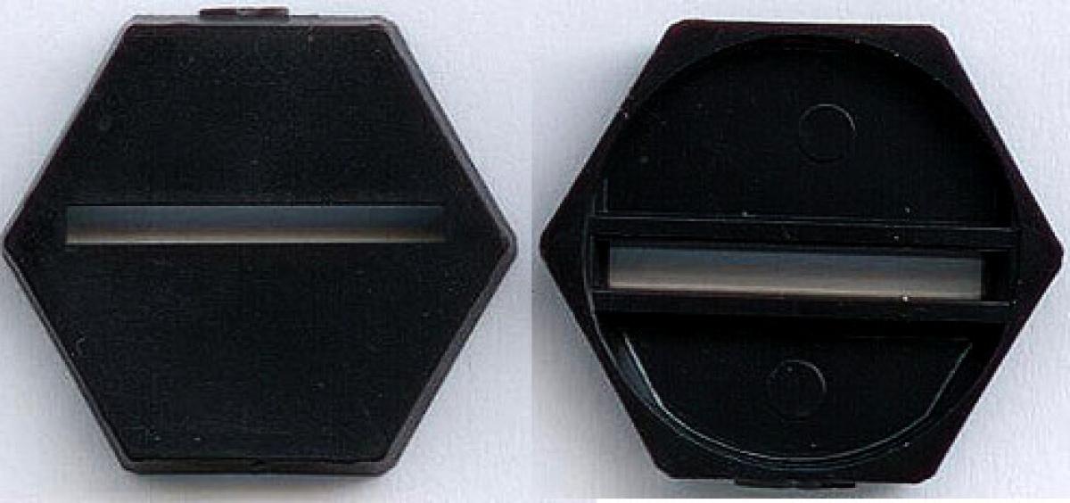 Podstawka sześciokątna pod figurkę z łuzą