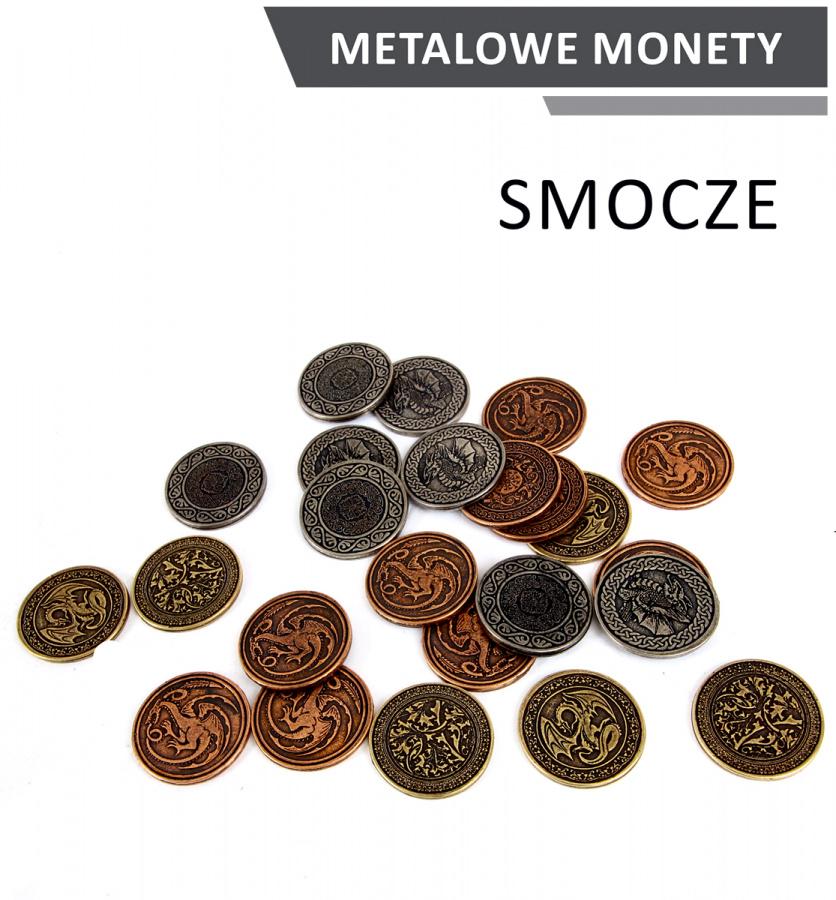 Metalowe Monety - Smocze (zestaw 24 monet)