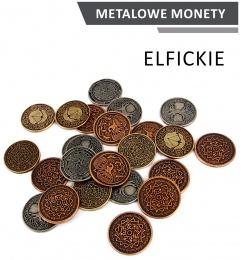 Metalowe Monety - Elfickie (zestaw 24 monet)