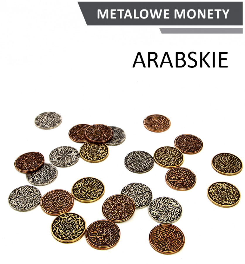 Metalowe Monety - Arabskie (zestaw 24 monet)