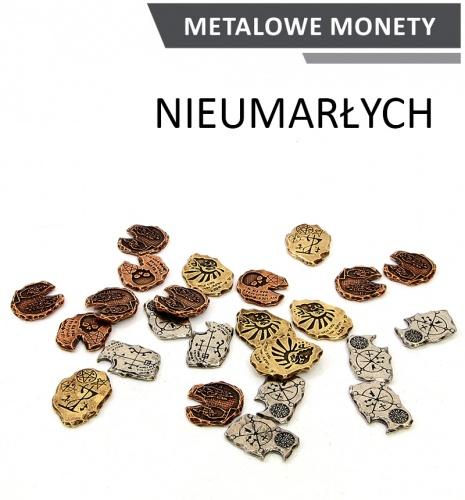 Metalowe Monety - Nieumarłych (zestaw 24 monet)