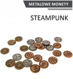 Metalowe Monety - Steampunkowe (zestaw 24 monet)
