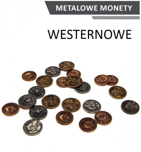 Metalowe Monety - Westernowe (zestaw 24 monet)