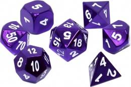 Komplet kości REBEL RPG - Metal - Metaliczna purpura
