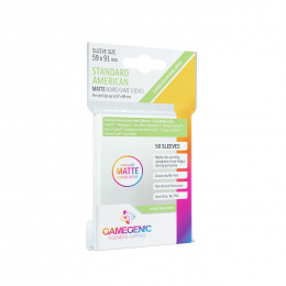 Gamegenic: Matte Standard American-Sized Sleeves (59x91 mm), 50 sztuk