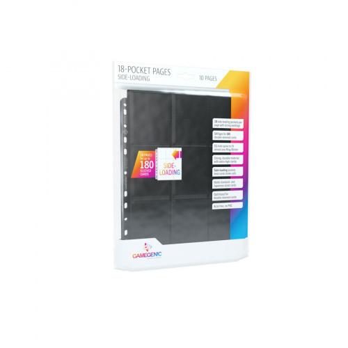 Gamegenic: 18-Pocket Pages Sideloading - Black (10 szt)
