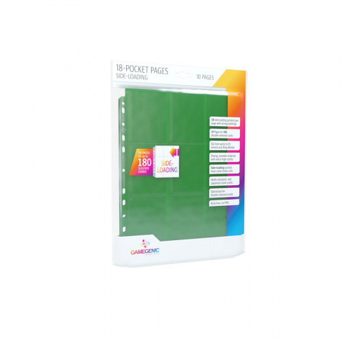 Gamegenic: 18-Pocket Pages Sideloading - Green (10 szt)