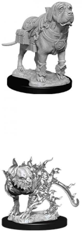 Dungeons & Dragons: Nolzur's Marvelous Miniatures - Mastiff & Shadow Mastiff
