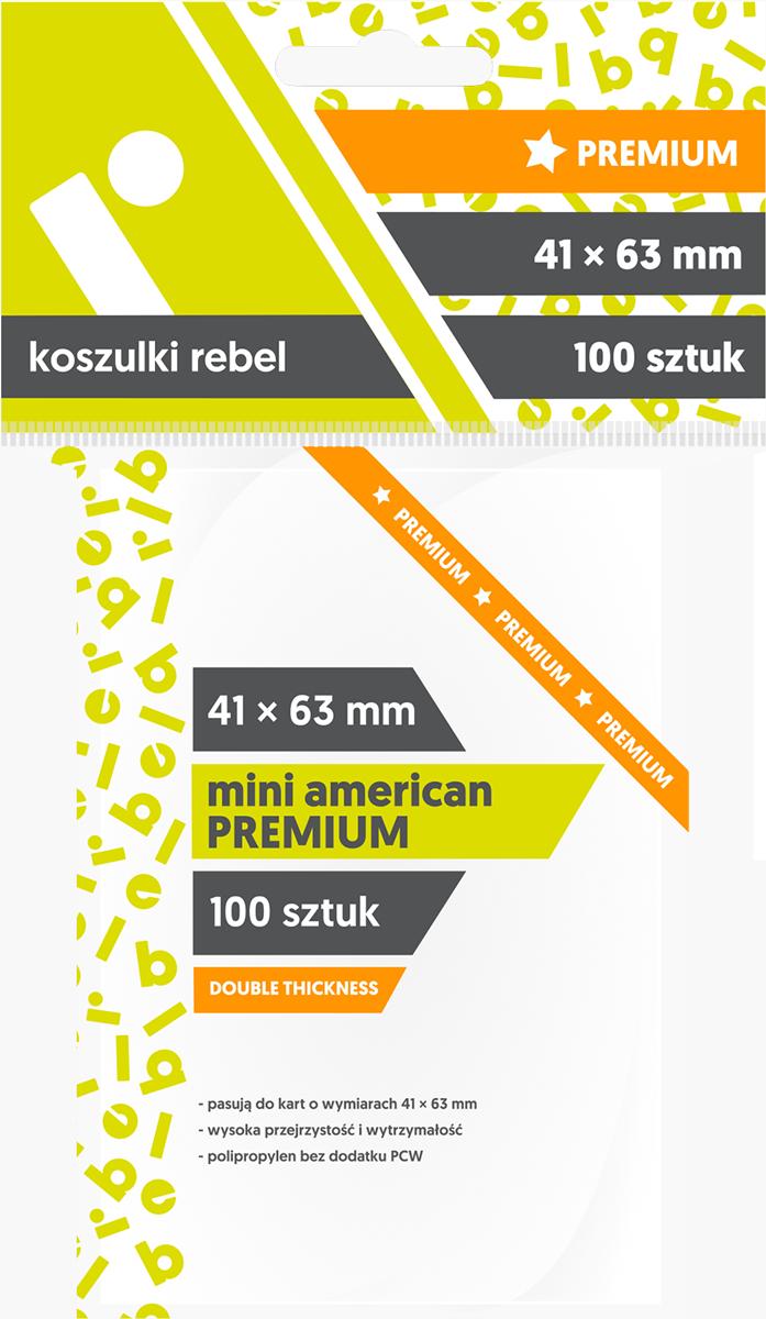 "Koszulki na karty Rebel (41x63 mm) ""Mini American Premium"", 100 sztuk"
