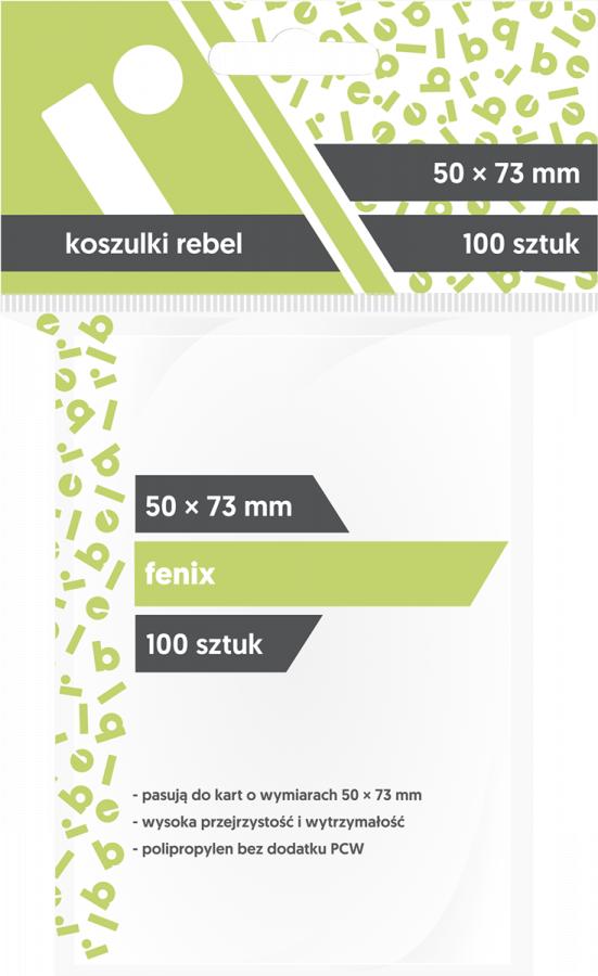 """Koszulki na karty Rebel (50x73 mm) """"Fenix"""", 100 sztuk"""