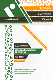 "Koszulki na karty Rebel (57,5x89 mm) ""Standard American Premium"", 100 sztuk"