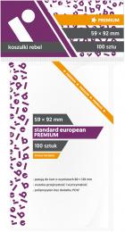 "Koszulki na karty Rebel (59x92 mm) ""Standard European Premium"", 100 sztuk"