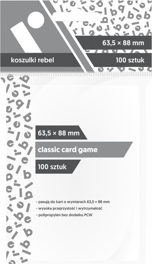 """Koszulki na karty Rebel (63,5x88 mm) """"Classic Card Game"""", 100 sztuk"""