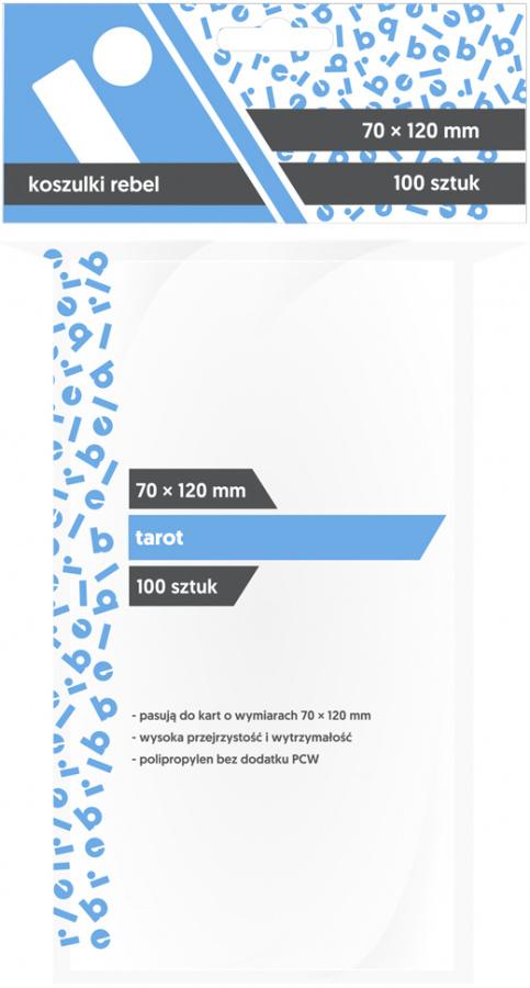 "Koszulki na karty Rebel (70x120 mm) ""Tarot"", 100 sztuk"