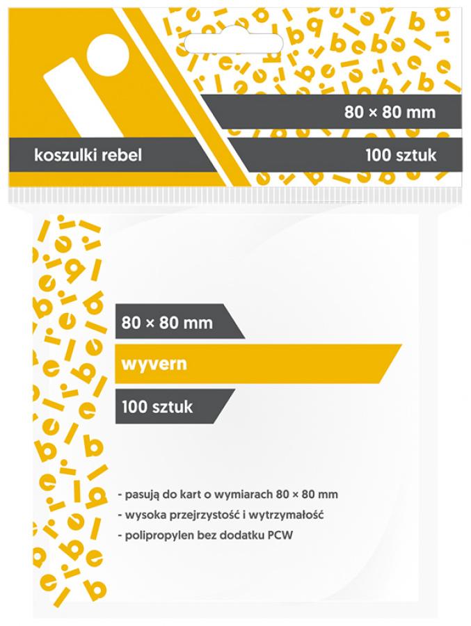 """Koszulki na karty Rebel (80x80 mm) """"Wyvern"""", 100 sztuk"""