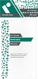 "Koszulki na karty Rebel (61x112 mm) ""French Tarot"", 100 sztuk"