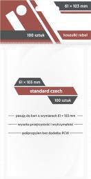 "Koszulki na karty Rebel (61x103 mm) ""Standard Czech"", 100 sztuk"