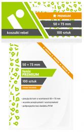 "Koszulki na karty Rebel (50x73 mm) ""Fenix Premium"", 100 sztuk"
