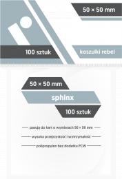 "Koszulki na karty Rebel (50x50 mm) ""Sphinx"", 100 sztuk"
