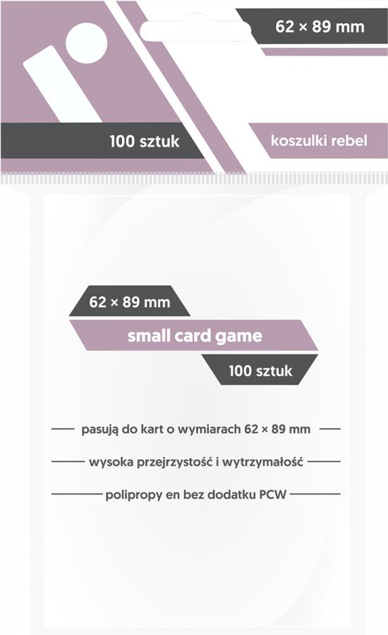 "Koszulki na karty Rebel (59x86 mm) ""Small Card Game"" 100 sztuk"