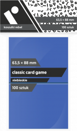 "Koszulki na karty Rebel (63,5x88 mm) ""Classic Card Game"", 100 sztuk, Niebieskie"