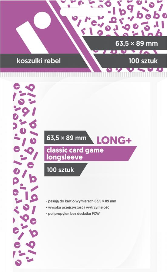 """Koszulki na karty Rebel (63,5x89 mm) """"Classic Card Game Longsleeve"""", 100 sztuk"""